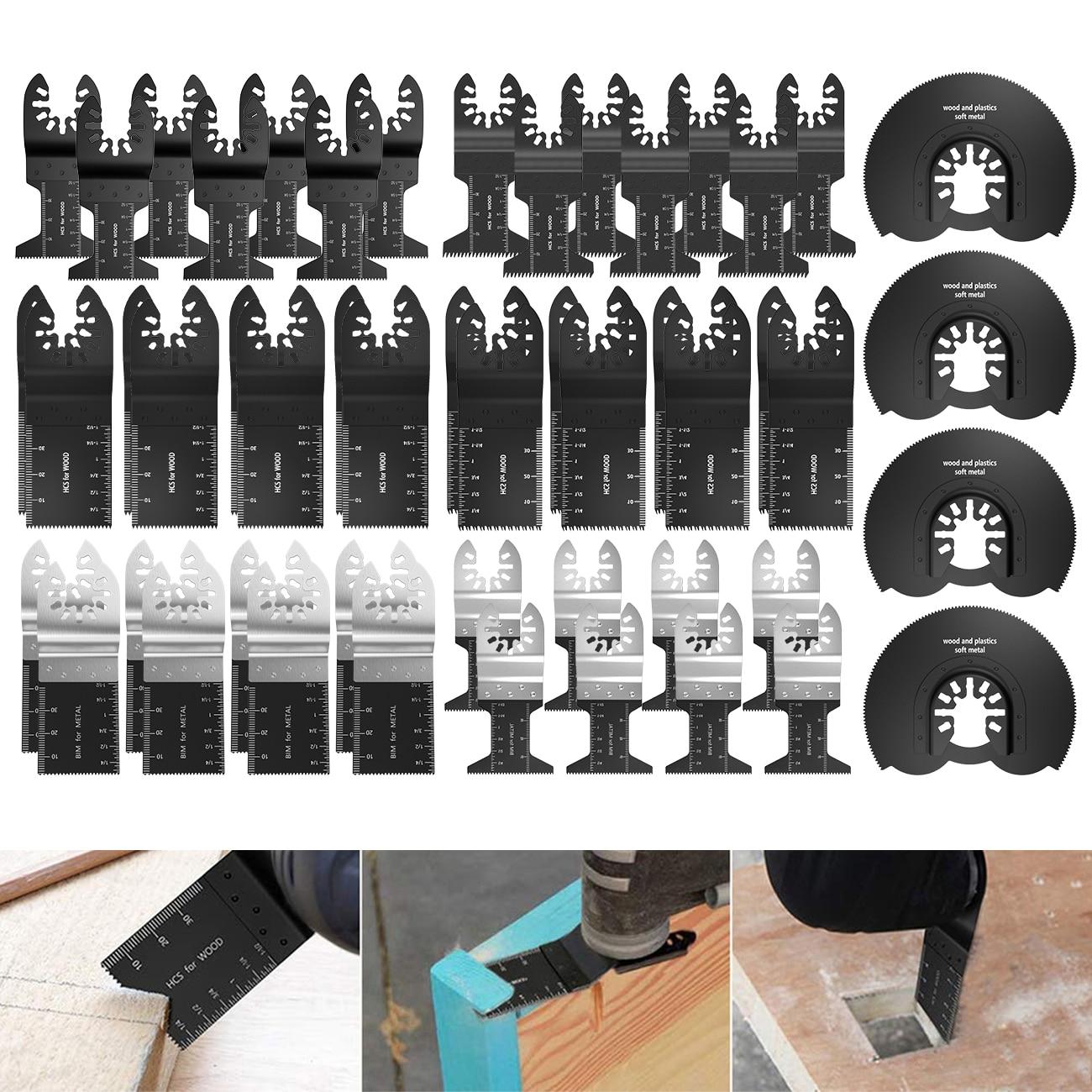 50Pcs Oscillating Multi Tool Saw Blade For Fein Bosch Multi Master Makita Cutting Wood Tools For Dremel Blade Power Blades