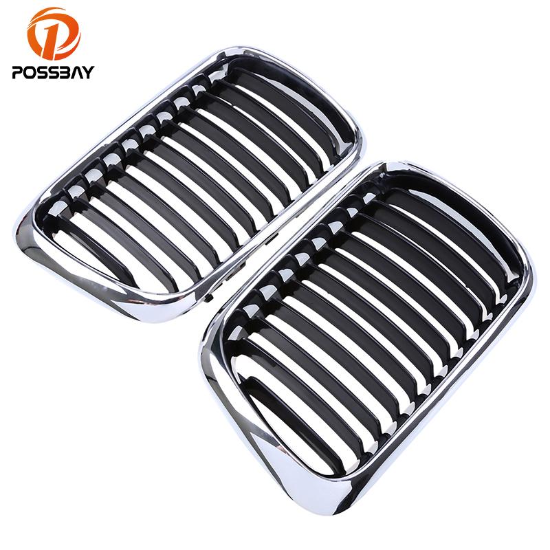 POSSBAY Front Kidney Grilles Racing Grills for BMW 3-Series E36 316i/318i/323i Compact 1996 1997 1998 1999 2000 2001 Facelift