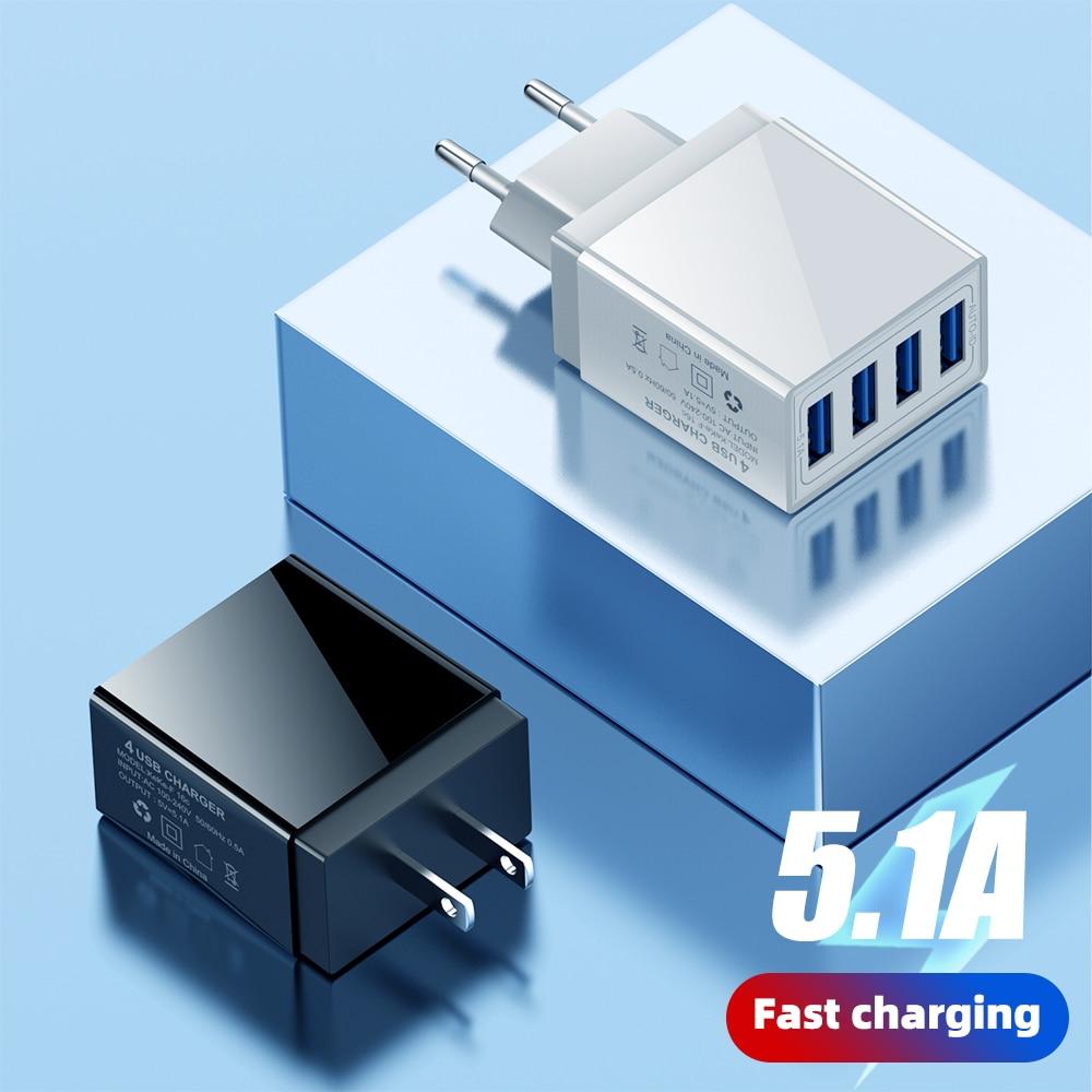 Universel 4 USB chargeur adaptateur