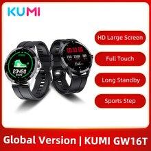Глобальная версия Куми GW16T Smartwatch спортивные часы монитор сердечного ритма во время сна Смарт-часы для мужчин и женщин, IP67 Водонепроницаемый ...