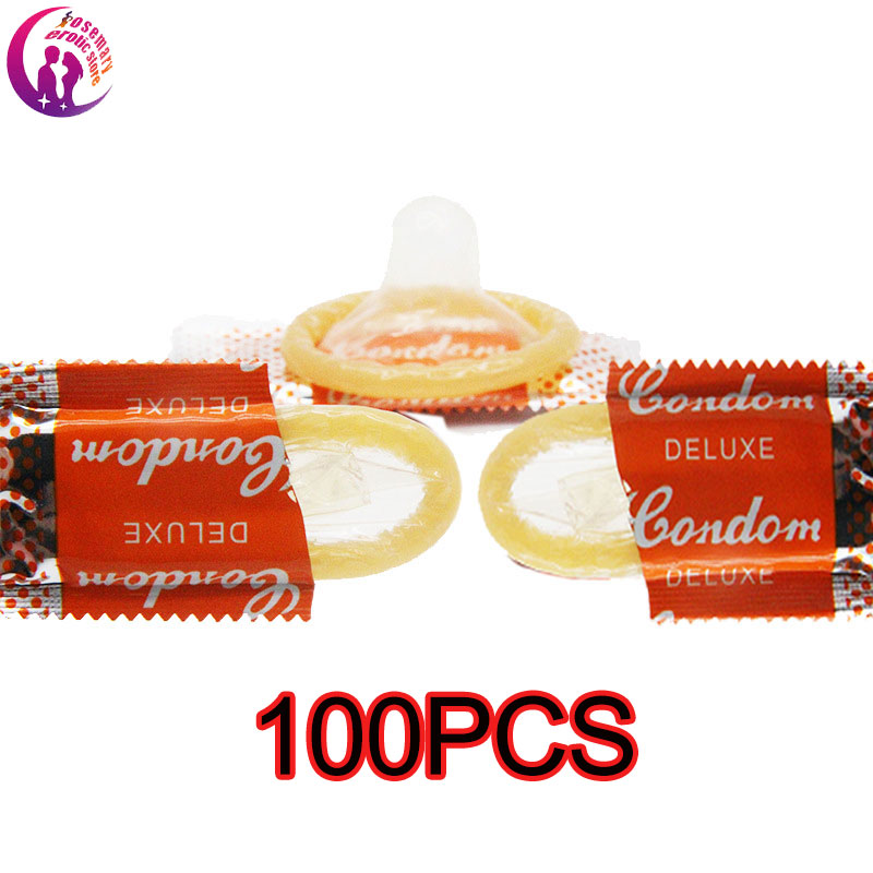 Condoms 100 Pcs Flavor Extra Safe Super-lubrication Latex Condom For Men Sex Toy  With Full Oil Package Erotic Random Color
