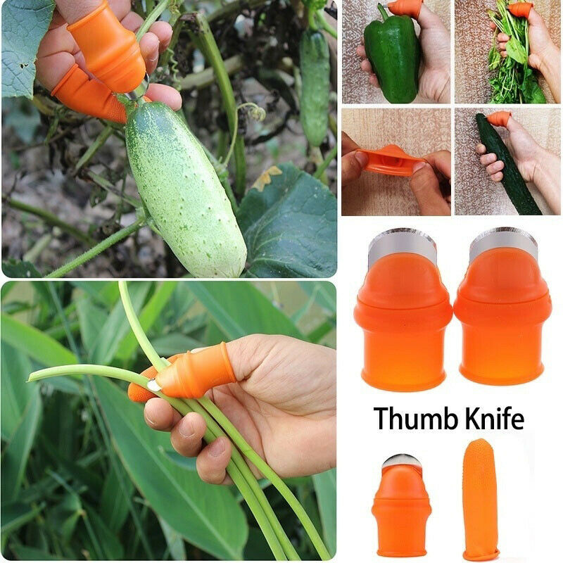 Thumb Cutter Separator Finger Tools Picking Device For Garden Harvesting Plant Gardening Home Garden Utility Easy To Clean
