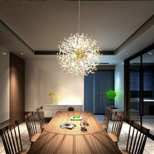 Chandelier-Light Hanging-Lamp Globe-Pendant Art-Deco Crystal Dandelion Bedroom Living-Room