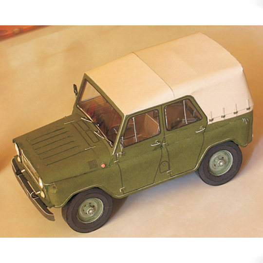 1:25 Soviet UAZ-469 Off-road Vehicle 3D Paper Model Military Vehicle Model Manual DIY Activity Car Model Toy 16x7x8cm
