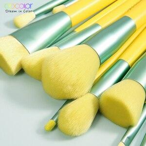 Image 4 - Docolor 13PCS Spazzole di Trucco Fondotinta In Polvere Dellombra di Occhio Blending Blush Pennello Cosmetico di Bellezza Neon Make Up Brush Maquiagem