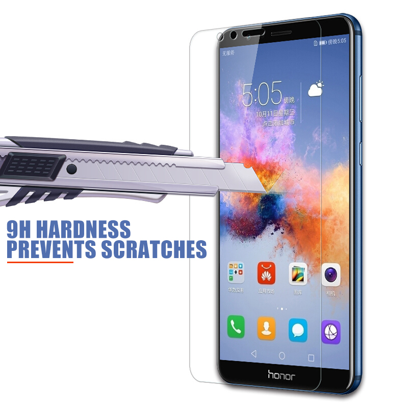 9H hardness Tempered Glass For Huawei honor 8 9 Lite V9 Play view 10 V10 Screen Protector Honor 7X 7A 7C 7S Protective Glas Film 4