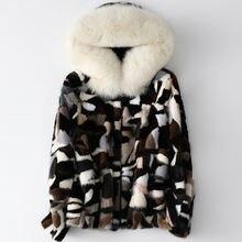 Женское короткое осенне зимнее Норковое меховое пальто h6 2020