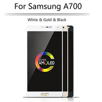 Super AMOLED Original LCD For SAMSUNG Galaxy A700 LCD Touch Screen Digitizer For SAMSUNG A7 2015 Display A700H A700F A700S A700K