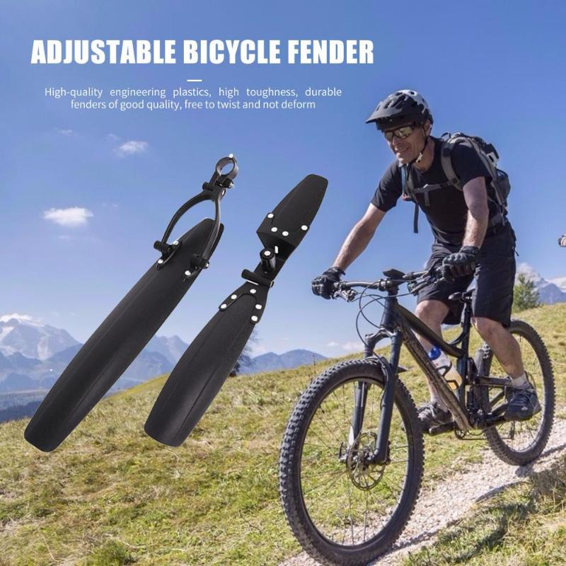 "Adjustable Bicycle Cycling Front//Rear Mudguard Mountain Road for 26/"" Bike"