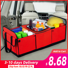 Universal Car Storage Organizer Trunk Collapsible Toys Food Storage Truck Cargo Container Bags Box Black Car Stowing Tidying New