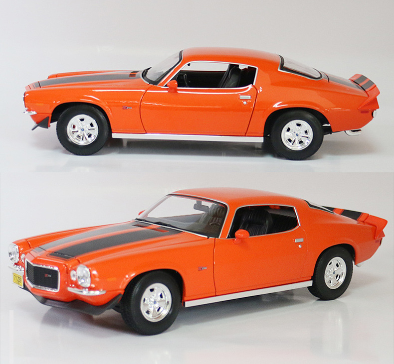 1971 Comero <font><b>1</b></font>:<font><b>18</b></font> Alloy Diecast Model Cars Static Simulation Mini Car Collection Toys Metal Car Miniatures <font><b>Voiture</b></font> Decorations image