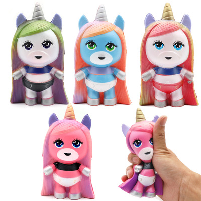 Decompression Toys Poopise Unicorn LOl Doll Squishy Decompression Vent Toy PU Slow Rebound Funny Anti Stress Toys For Kids