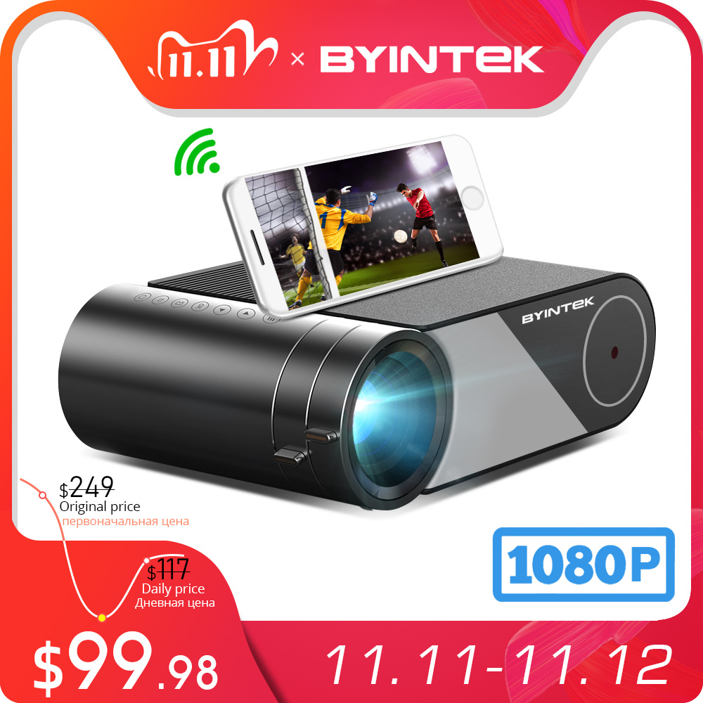 BYINTEK K9 Mini 1280x720P Portable Video Beamer LED Projector Proyector for 1080P 3D 4K Cinema Option Multi-Screen For Iphone