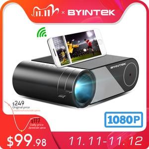 Image 1 - BYINTEK K9 Mini 1280x720P Portable Video Beamer LED Projector Proyector for 1080P 3D 4K Cinema(Option Multi Screen For Iphone