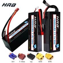 HRB RC батарея Lipo 7,4 V 11,1 V 14,8 V 7000 мА/ч, 55C Max 110C XT60 Разъем T/XT90/EC5/TRX Жесткий Чехол для Traxxas RC автомобилей 1:10 1:12