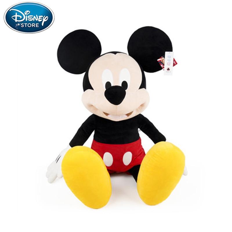 30/46/80cm Disney peluş oyuncaklar Mickey Mouse Minnie sevimli hayvan dolması bebekler PP pamuk sıcak oyuncaklar doğum günü noel hediyesi çocuklar için