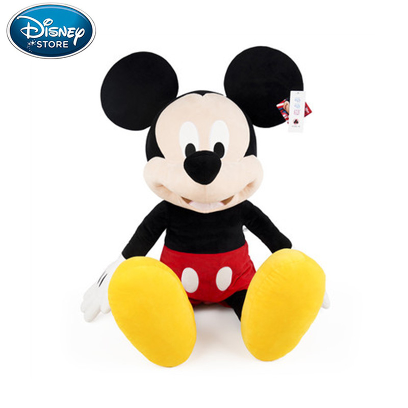 30/46/<font><b>80cm</b></font> Disney Plush Toys Mickey Mouse Minnie Cute Animal Stuffed <font><b>Dolls</b></font> PP Cotton Hot Toys Birthday Christmas Gift for Kids image
