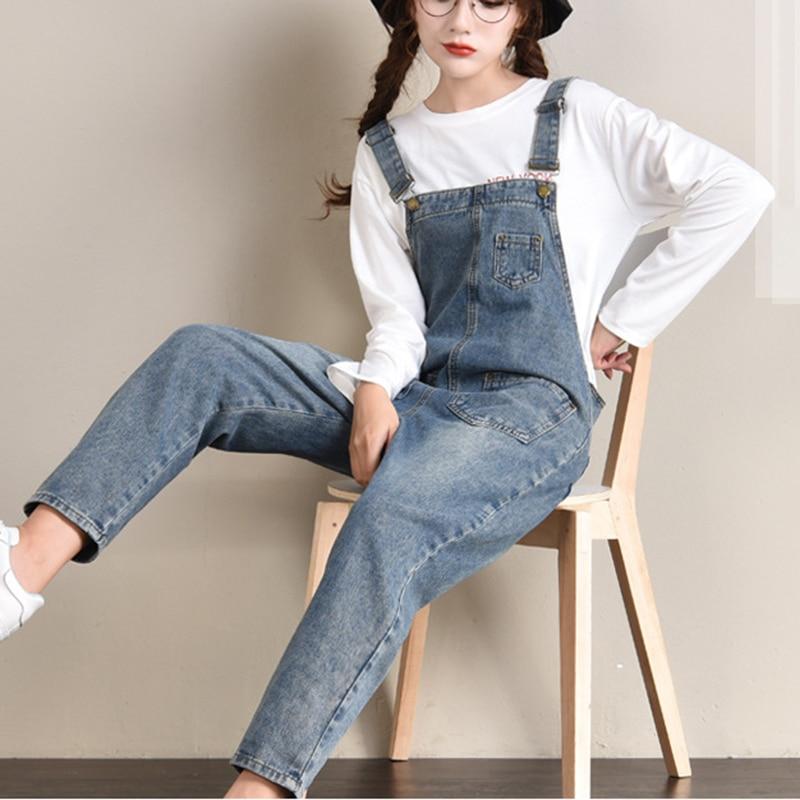 Women Casual Plus Size Jumpsuits Women Jean Fashion Loose Denim Jumpsuit For Ladies Plus Size New Arrive