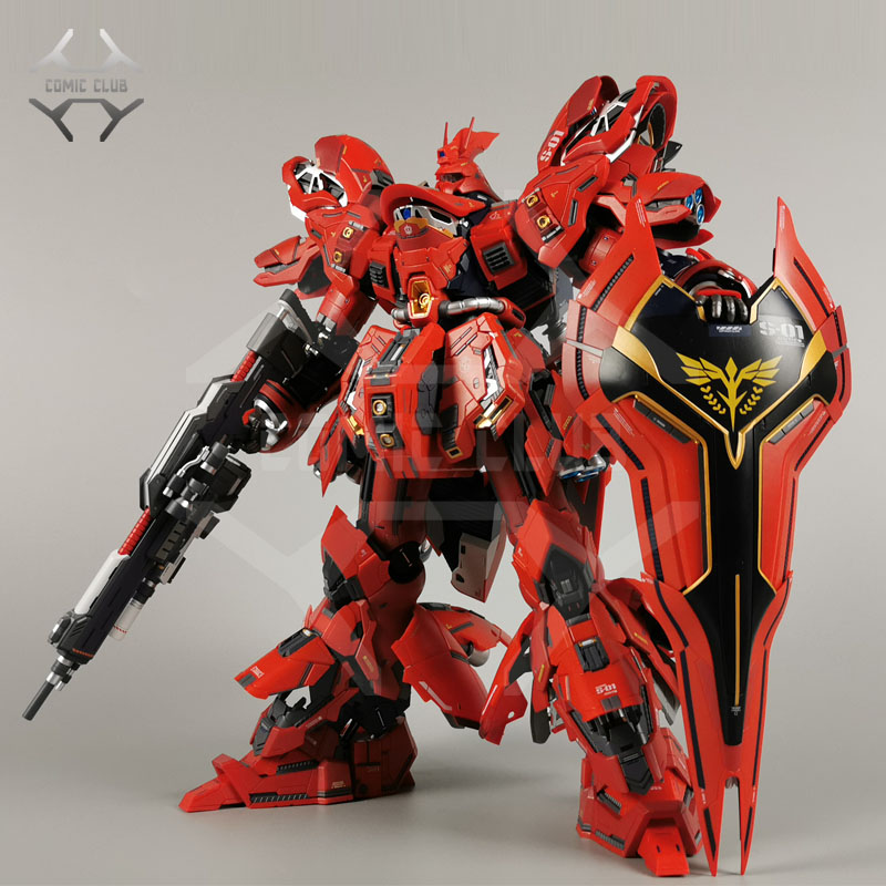 COMIC CLUB Jianggao Metal Build Mb Gundam Sazabi Ka MSN-04 Contain Led Light Alloy Action Toy Figure