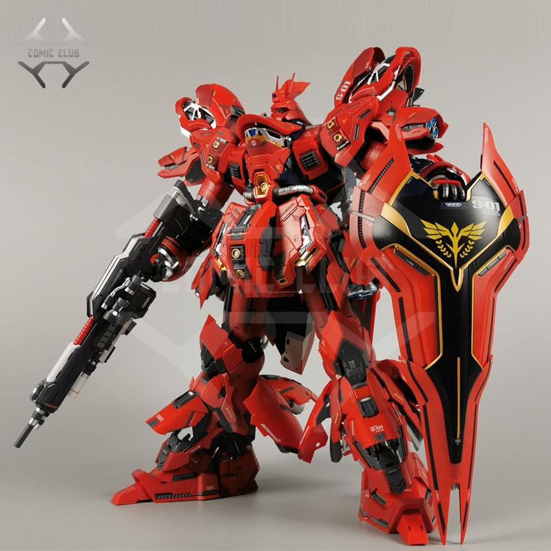 COMIC CLUB Jianggao Metal Build Mb Gundam Sazabi Ka MSN-04 Contain Led Light Alloy Action Toy Figure