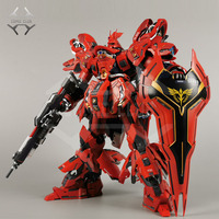 COMIC CLUB jianggao Metal Build mb gundam Sazabi Ka MSN 04 contain led light alloy action toy figure
