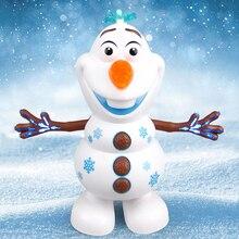 Снеговик Олаф электрические игрушки танец движется светильник музыка мультфильм пластиковая игрушка мальчики и девочки рождественские подарки