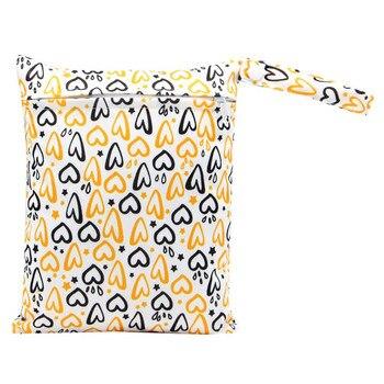 20*25cm Mini Diaper Wet Bag Single Pocket Zipper Baby Bags For Mom Maternity Travel Stroller Bag PUL Nappy Diaper Bag Wetbag - AS-MB-18