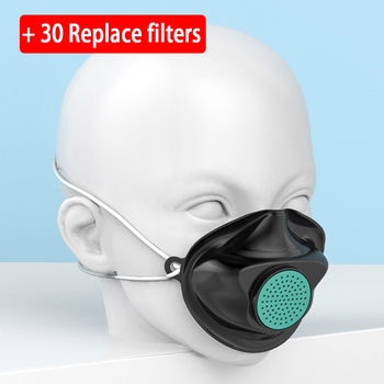 Replaceable +30 filters non-disposable mouth safety face mask anti dust air pollution gas pm2.5 Influenza bacteria Flu care mask