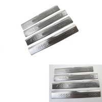 Lsrtw2017 for Volkswagen Vw Touran Car Inside Door Sill Threshold Trims Interior Accessories Chrome Kit 2016 2017 2018 2019 2020