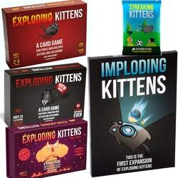 Exploding kittens jogo de tabuleiro nsfw edition, adulto, edição original, festa da família, jogo de cartas divertido, brinquedo para crianças