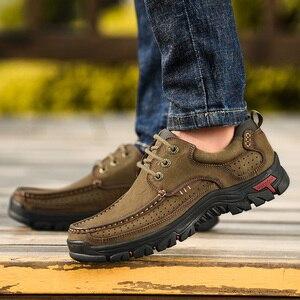 Image 5 - 2019 Nieuwe Heren Schoenen Echt Leder Mannen Flats Loafers Hoge Kwaliteit Outdoor Mannen Sneakers Man Casual Schoenen Plus Size 48