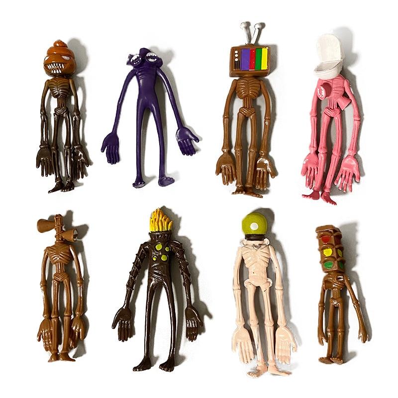 Lot de 8 figurines de Collection poupée en PVC SCP 173 096 049, 10-12cm, jouet tête de sirène d'horreur
