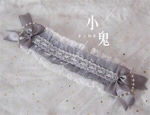 Image 5 - Japanese Sweet Lolita Retro KC Headband Female Lace Trim Bowknot Headwear Cosplay Hairpin Accessories  B445