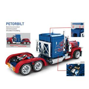 Image 2 - 2019 neue echnische serie 701803 849PCS Schwere Container Lkw modell bausteine set Klassische auto modell spielzeug für Kinder