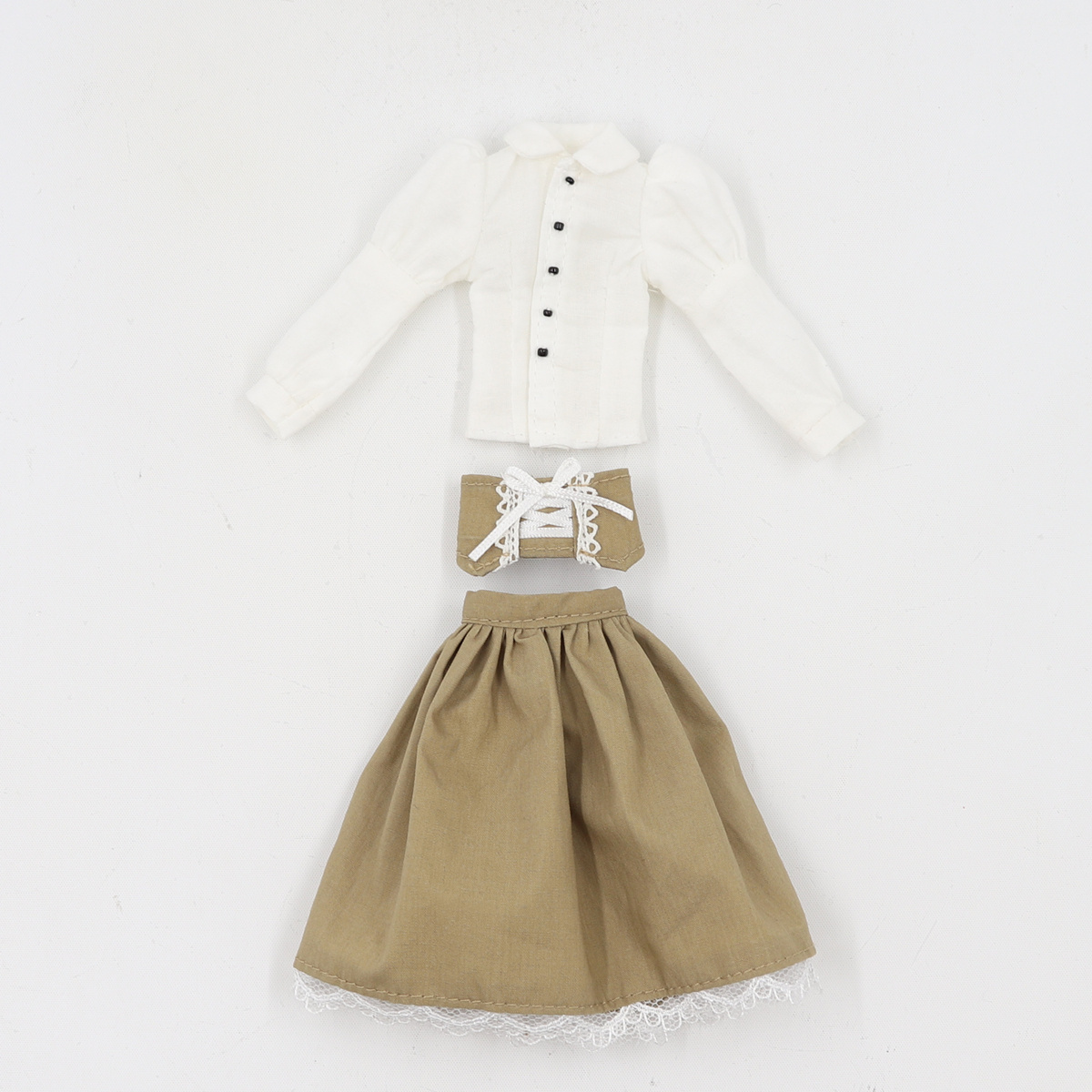 Neo Blythe Doll White Shirt Brown Black Skirt 5