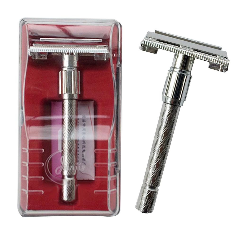 Men Manual Long Handle Razor Holder Double Edge Sharp Blade Facial Hair Shaper Traditional Style Safety Razor Is An Excellent