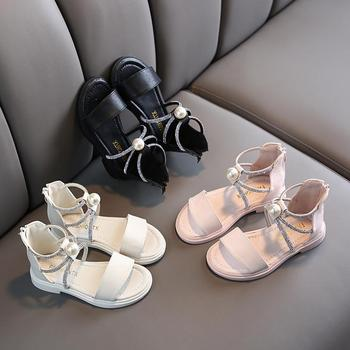 New Summer Fashion Roman Boots High-top Girls Sandals Hot Sale Kids Sandals With Beads Child Sandals Girls High Quality Shoes