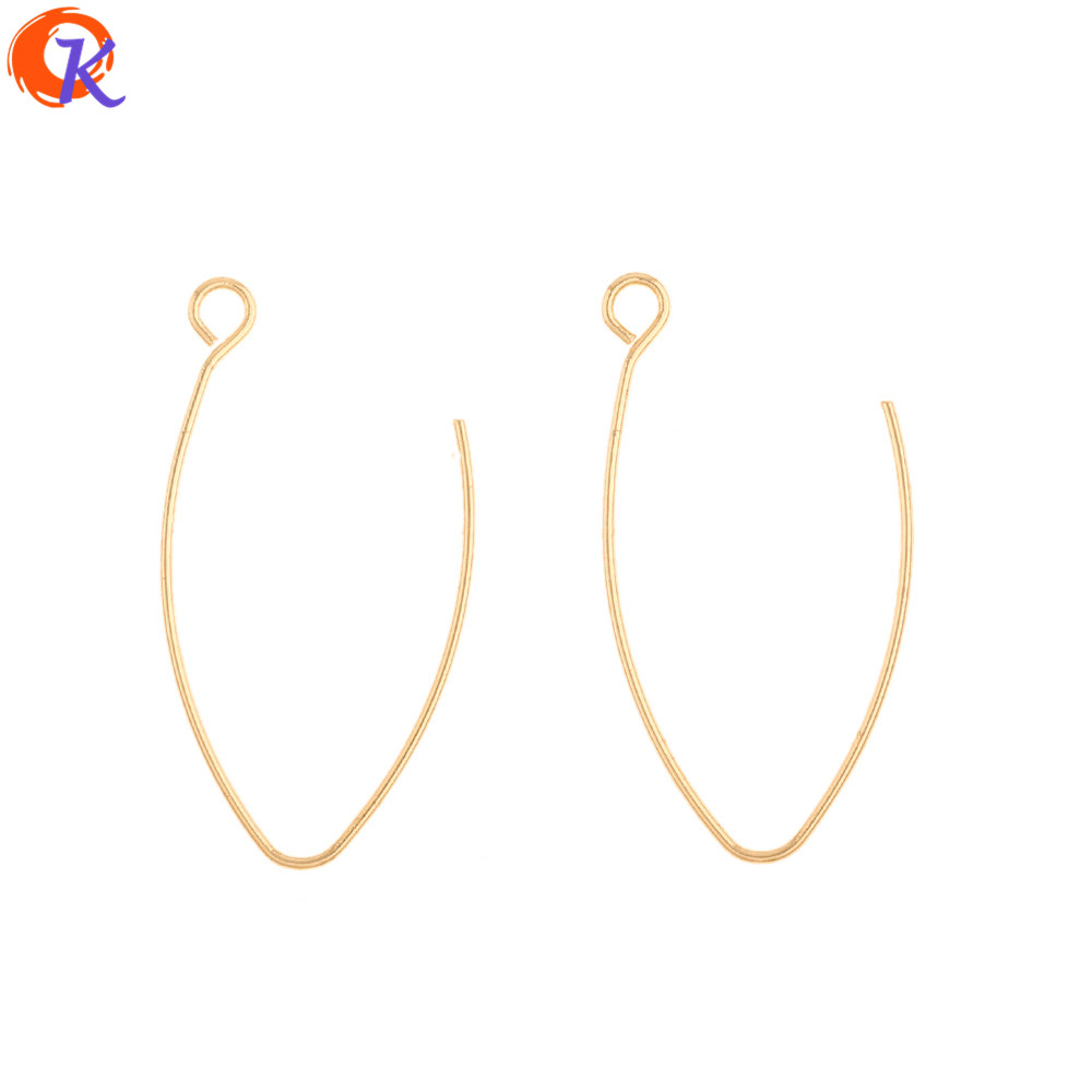 Cordial Design 100Pcs 16*30MM Earring Findings/DIY Making/Genuine Gold Plating/Jewelry Accessories/Hand Made/Earrings Hooks