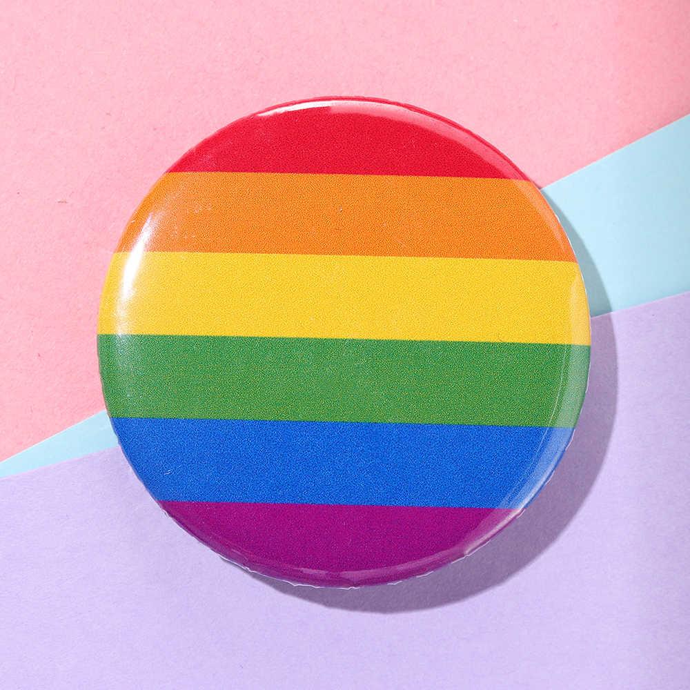 2020 sıcak 1 adet LGBT gökkuşağı eşcinsel Pin teneke rozet yaka Denim broş şapka dekorasyon erkekler kadın yaka Pin takı aksesuarları