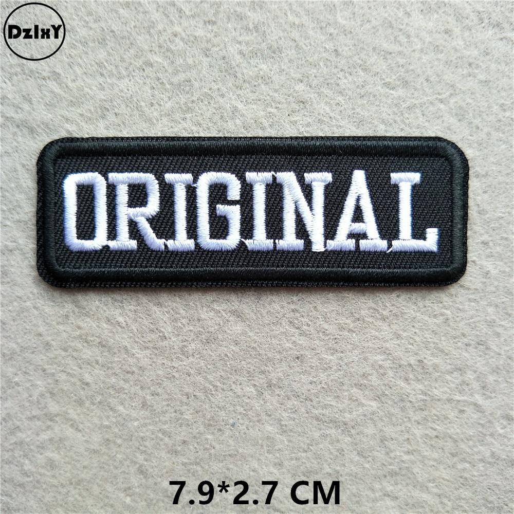Черно-белые вышитые нашивки с английским алфавитом для одежды, сделай сам, полоски, написанные слова, наклейки, буквы для одежды, железные значки@ B - Цвет: 1-PCS-B-81