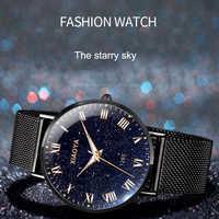 Xiaoya luxo relógios masculinos céu estrelado relógio de quartzo relógio de pulso masculino moda reloj mujer relogio feminino