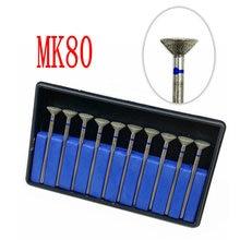Bur-Set Diamond MK80 Diamond-Point-Polisher Dental-Part Burs-Hp Cone 10pcs Inverted Electroplated