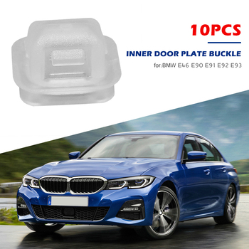 10pcs Plastic Insert Trim Strip Door Card Grommet Clips Outdoor Anti-resistance Repairing Parts for BMW E46 E90 E91 E92 image