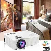 LED Projector 1080P Full HD Mini Projector 640x480 Wireless