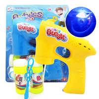 Cartoon animal soap bubble gun toy electric bubble machine children outdoor toys kids birthday gift