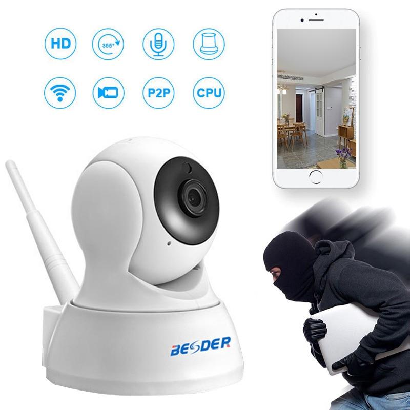BESDER 720P/1080P IP Camera Wireless Home Security Camera Surveillance Camera Wifi Night Vision CCTV Camera 2MP Baby Monitor