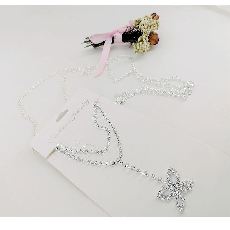 Women Fashion Belt Hip High Waist Gold Silver Narrow Metal Chain Chunky Fringes Crystal Diamond Waist Chain