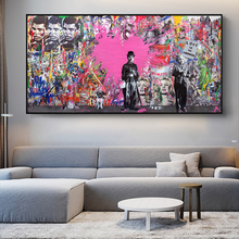 Modern Graffiti Art Canvas Paintings On the Wall Art Posters And Prints Street Art Canvas Pictures For Living Room Cuadros Decor african large lions face canvas paintings on the wall art posters and prints animals lions art pictures for living room cuadros