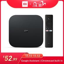 グローバルバージョンxiaomi miテレビボックスのアンドロイド9.0 2ギガバイトのram 8ギガバイトromスマートテレビセットトップボックス4 18kクアッドコアhdmi wifiマリ450 1000Mbpプレーヤー