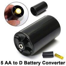 AA в D Размер Батарея конвертер батарея адаптер Путешествия Туризм Bettery держатели легкий портативный